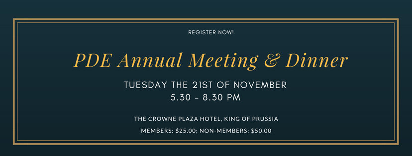 PDE Annual Meeting & Dinner November 21